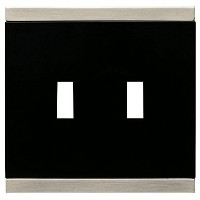 BRAINERD 135755 Basic Stripe Double Toggle Switch Wall Plate / Switch Plate / Cover [並行輸入品]