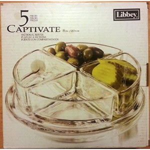 Libbey Captivate 5Piece Serving Tray