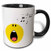 3dローズInspirationzStore Smiley Faceコレクション–Singing Smiley Face–Yellow Cartoon Singer–Cute...