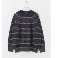 DOORS unfil checked blend sweater【アーバンリサーチ/URBAN RESEARCH レディス ニット・セーター gry×nvy ルミネ LUMINE】