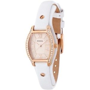 FOSSIL フォッシル レディース腕時計 Molly Three Hand Leather Watch - White Es3289