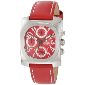 Lancaster ランカスター レディース腕時計 Women's OLA0288RSBN-RSBN Chronograph Red Dial Red Leather Watch