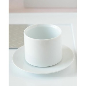 【Special Sale 30】SUI ホワイト 煎茶カップ&ソーサー【224 porcelain/SUI/肥前吉田焼/和食器/白い食器/おしゃれ/和モダン】