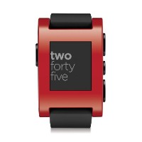 Pebble ペブル スマートウォッチ レッド Smart Watch for iPhone and Android Devices (Red)