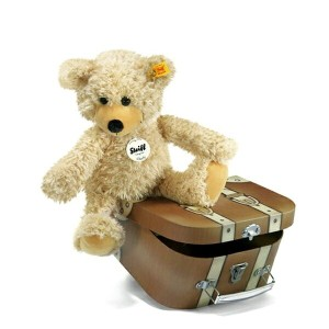 Steiff シュタイフチャーリー ダングリング テディベア スーツケース 30cm(Charly dangling Teddy bear in suitcase) 12938【DM(メール)便NG...