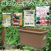 eco&ecoウインプランター深55型ゴーヤ栽培緑のカーテンセット 【深型プランター・家庭菜園 ガーデニング 】【RCP】 05P03Dec16