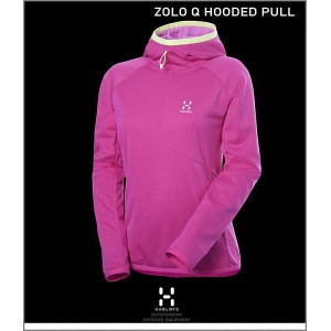 """HAGLOFS【ZOLO-Q Hooded Pull""""Woman""""CosmicPink】【ホグロフス""""ゾロ・フーデッドプル女性用/ピンク】"""