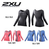 2XU/ツータイムズユー コンプレッション ロングスリーブ トップ COMPRESSION LONG SLEEVE TOP /WA2270a