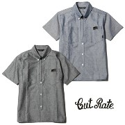 CUT RATE カットレイト S/S HALF ZIP OX FORD B