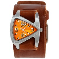 Nemesis ネメシス レディース腕時計 Women's BHST024N Triangle Orange Triangle Brown Leather Cuff Band Watch