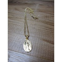 MEDAILLE MARIA NECKLACE/SILVER 925 GOLD