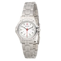 ウェンガー レディース 腕時計 Wenger Women's 70209 Standard Issue White Dial Steel Bracelet Watch