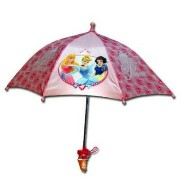 Disneyプリンセスピンク傘3Dハンドル/Princess Pink Umbrella With 3D Handle