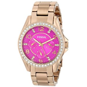 Fossil フォッシル レディース腕時計 Women's ES3507 Riley Analog Display Analog Quartz Gold Watch