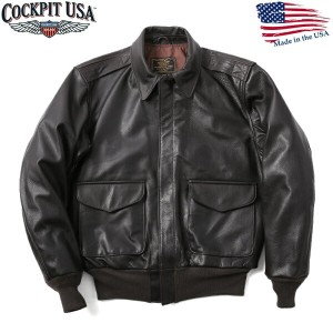 Cockpit USA コックピット 21st Century A-2フライトジャケットBROWN -2レザー フライトジャケット ミリタリージャケット MADE IN USA(アメリカ製)