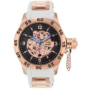 Rougois ロウゴイス RS9280RND-RGWH ダイバーウォッチ 腕時計 Rose Gold Automatic Skeleton Naval Officer Diver Watch