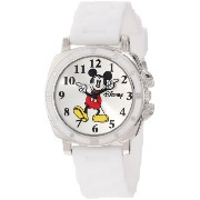 Disney ディズニー ミッキーマウス キッズ腕時計 Kids' MK1103 Mickey Mouse White Rubber Strap Watch