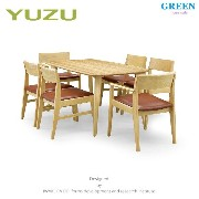 41%OFF [ダイニング7点セット] GREEN home style YUZU DINING TABLE B140 + ARM CHAIR F + SIDE CHAIR F (グリーン...