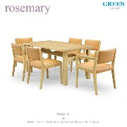 35%OFF [ダイニング7点] GREEN home style ROSE MARY DINING TABLE 150 + ARM CHAIR A + SIDE CHAIR A (グリーン...