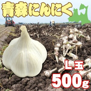 L玉 青森にんにく500g約7〜9玉(農家直送)(送料別)
