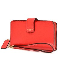 COACH/コーチ 66265 PHONE WALLET IN SAFFIANO LEATHER フォンウォレット