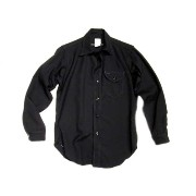 【期間限定30%OFF!】POST OVERALLS(ポストオーバーオールズ)/#1249 C-POST6 WOOL SERGE SHIRTS/navy