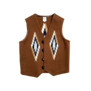 ORTEGA'S(オルテガ) /REGULAR FRONT(レギュラーフロント)WOVEN VEST/MEDIUM BROWN/size 38