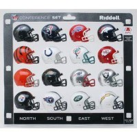 NFL AFC Mini Replica ヘルメットConference Set Riddell
