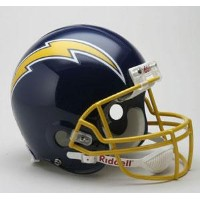 NFL チャージャース Throwback Authentic On-Field ヘルメット Riddell Throwback 74-87