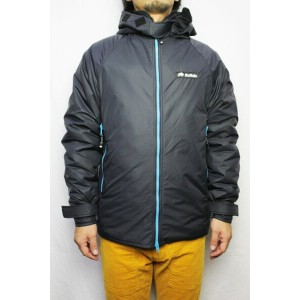 """""""Buffalo Systems"""" (バッファローシステムズ)BELAY JACKET with HOOD LIMITED EDITION (COLOR : BLACK / BLUE)..."""