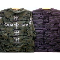 BE AMBITION 長袖Tシャツ クロスストーン 迷彩柄 ビーアンビション【コンビニ受取対応商品】