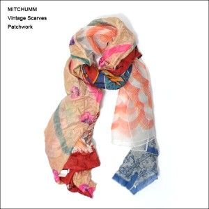 MITCHUMM(ミッチュム)FW'14VINTAGE SCARVES PATCHWORK【077-05】ヴィンテージスカーフ