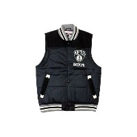 MITCHELL&NESS Tittle Holder Vest (Brooklyn Net : Black)ミッチェル&ネス ダウンベスト/黒
