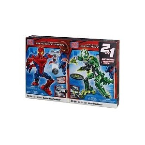 メガブロック 91247 スパイダーマン リザード Mega Bloks the Amazing Spider-man Set Spider-man Techbot & Lizard Techbot...