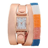 ラメールコレクション 時計 レディース 腕時計 La Mer Collections Guatemala Beaded Rose Gold Wrap Watch - Rose