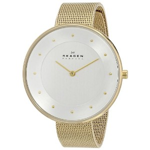 スカーゲン 腕時計 レディース 時計 Skagen Women's SKW2141 Gitte Quartz 2 Hand Stainless Steel Gold Watch