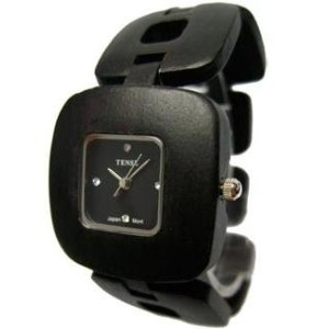テンス 時計 男女兼用 腕時計 木製 Tense Solid Dark Unique Sandalwood Unisex Watch Natural Wood Watch Retro B8204D