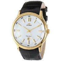 "オリエント 時計 メンズ 腕時計 Orient Men's FUNC7003W ""Judicial"" Stainless Steel Watch with Black Leather Band"