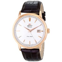 "オリエント 時計 メンズ 腕時計 Orient Men's FER27003W0 ""Symphony"" Stainless Steel Watch with Brown Leather Band"