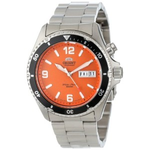 "オリエント 時計 メンズ 腕時計 Orient Men's CEM65001M ""Orange Mako"" Stainless Steel Automatic Dive Watch"
