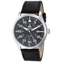 オリエント 時計 メンズ 腕時計 Orient Men's FER2A003B0 Flight Analog Display Japanese Automatic Black Watch