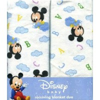 Disney ベビーミッキーマウス2枚セットおくるみ/Baby Mickey Mouse 2-Piece Receiving Blankets