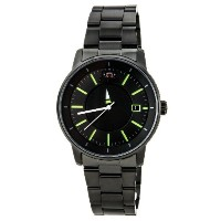 オリエント 時計 メンズ 腕時計 Orient ER02005B Men's Disk Automatic Unique Rotating Disk Hour Hand Green Accents...