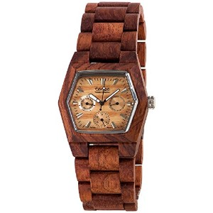 テンス 時計 メンズ 腕時計 木製 Tense Rosewwd Mens Triple Dial Hexagon Wood Watch G8303R (Light Face)