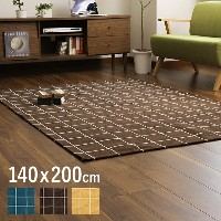 TILE ラグマット 140x200cm (ラグマット ラグマット 長方形 ラグマット 長方形 北欧 ラグマット 140cm ラグマット タイル柄)