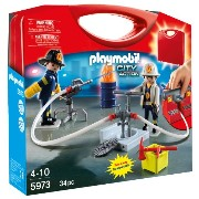 プレイモービル 5973 消防士 Playmobil Carrying Case Firemen