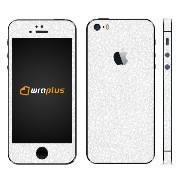 wraplus for iPhoneSE & iPhone5S/5 【ホワイトレザー】 スキンシール