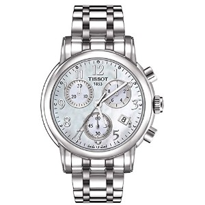 ティソ 腕時計 レディース 時計 Tissot T Classic Chronograph Mother of Pearl Dial Steel Ladies Watch T0502171111200
