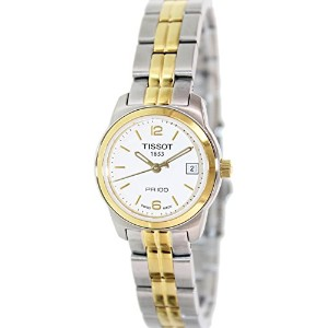 ティソ 腕時計 レディース 時計 Tissot PR100 White Dial Two-tone Ladies Watch T0492102201700