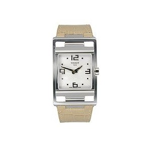 ティソ 腕時計 レディース 時計 Tissot My-T Light Brown Leather Silver Dial Women's Watch #T032.309.16.037.00
